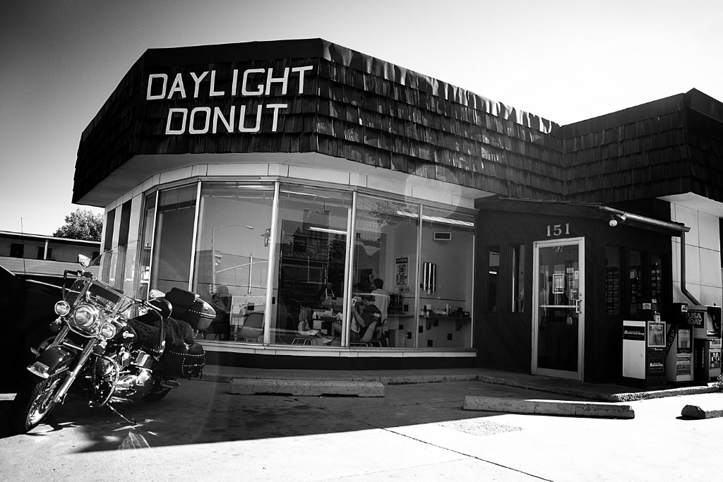 Daylight donut, Laramie, Wyoming, USA