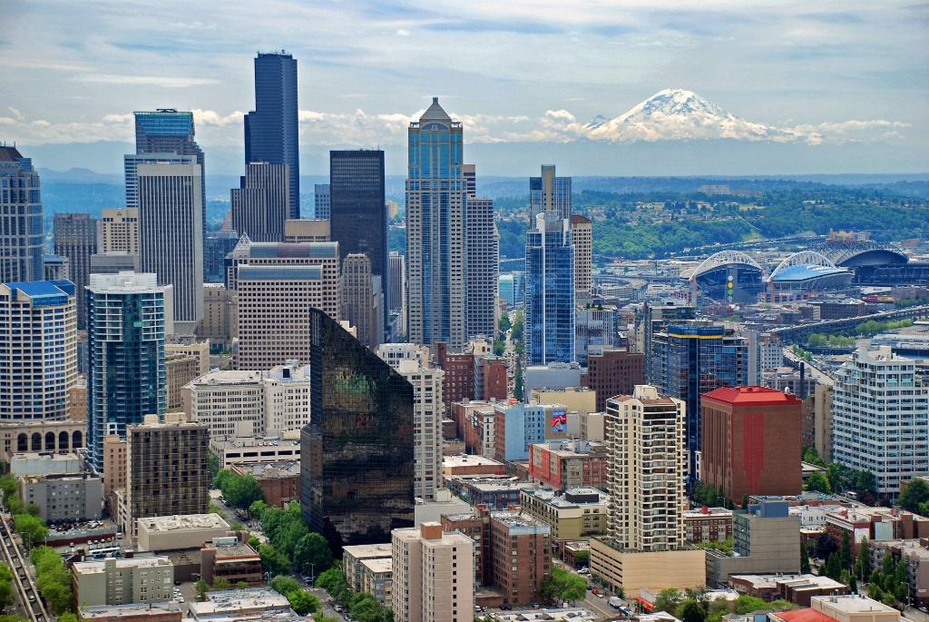 Utsikt från Space Needle Seattle Washington USA