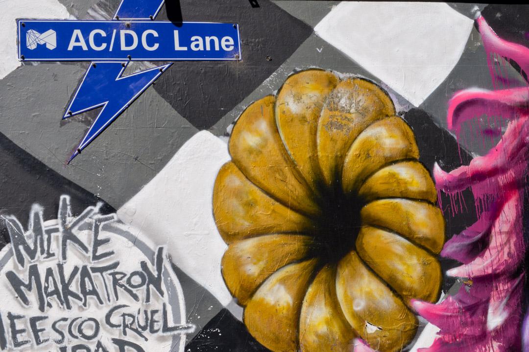 AC/DC Lane - Street Art Melbourne