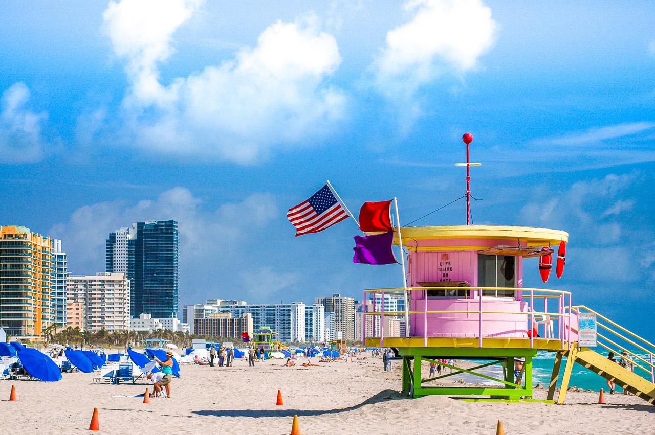 Badvakttorn på South Beach i Miami.