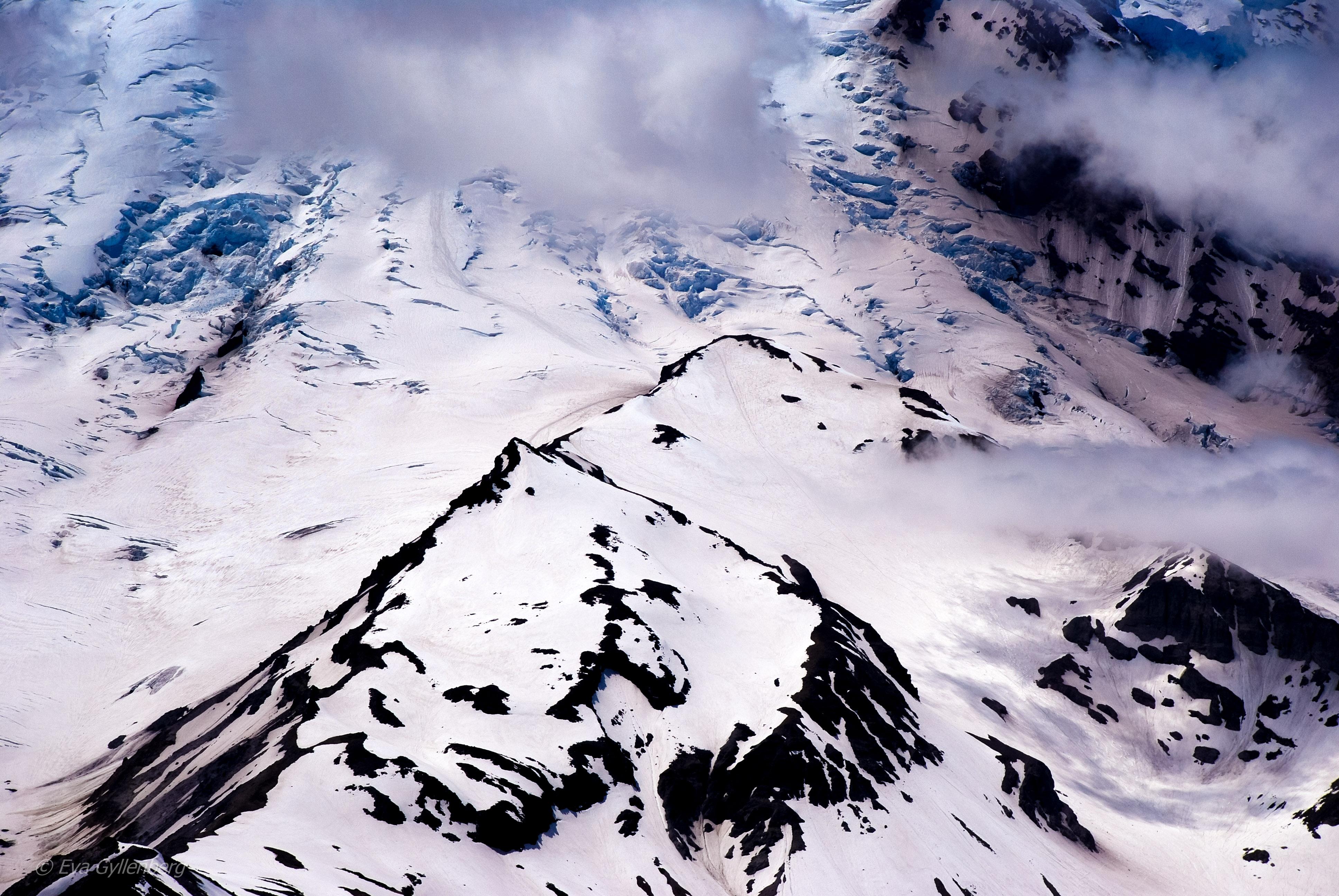 Mount Rainier National Park: Glaciärer och sommarsnö
