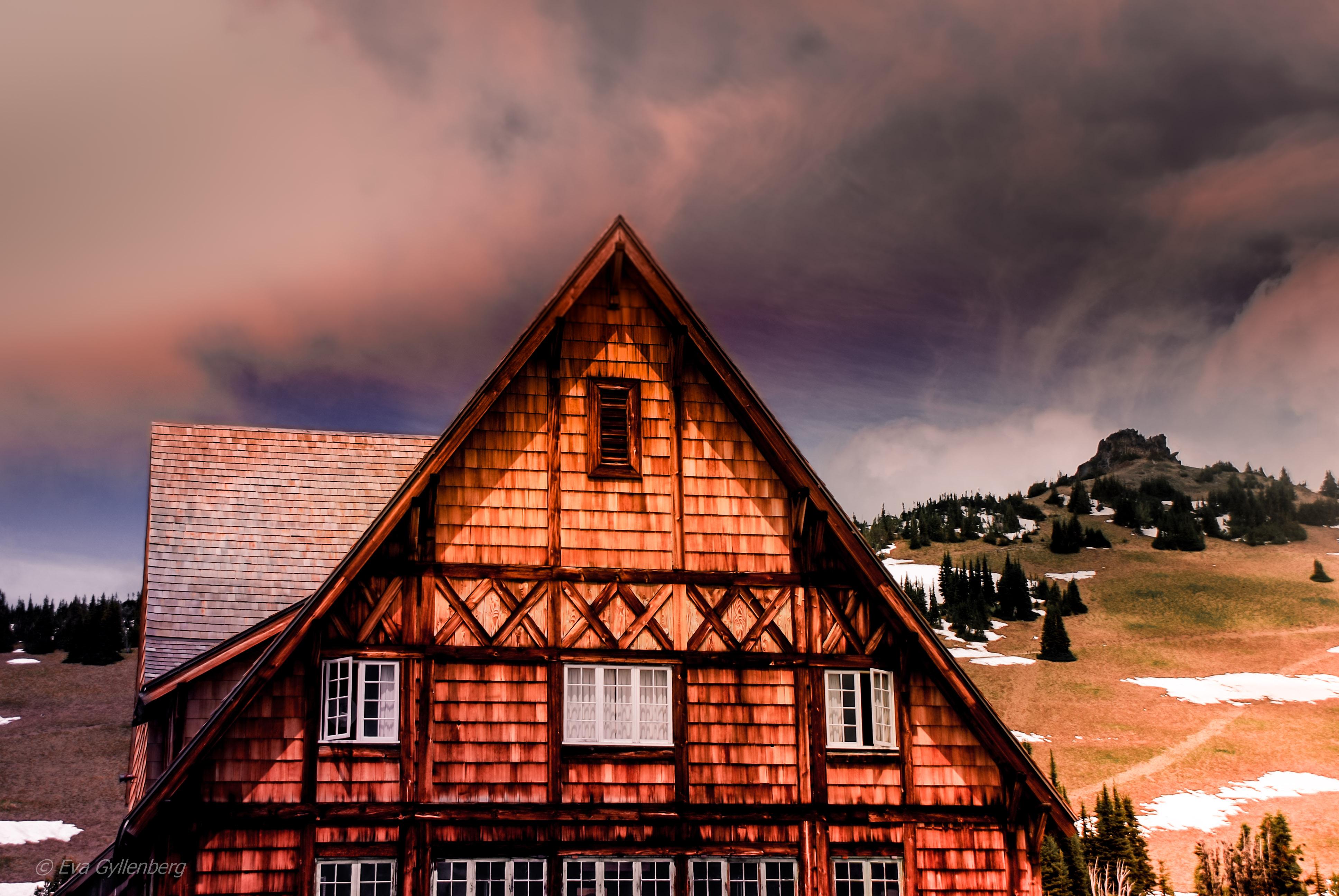 Besökscenter på Sunrise - Mount Rainier - Washington