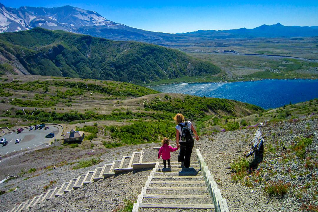Vandring i utbrottets spår på Mount St Helens