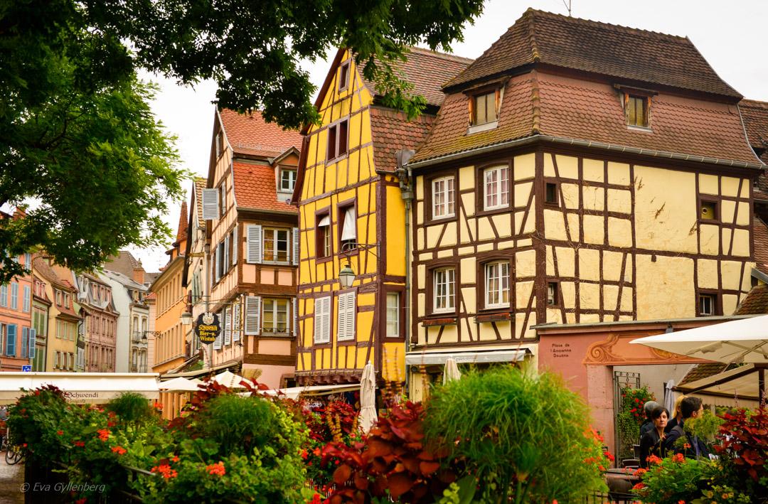 Korsvirkeshus i Colmar, Frankrike