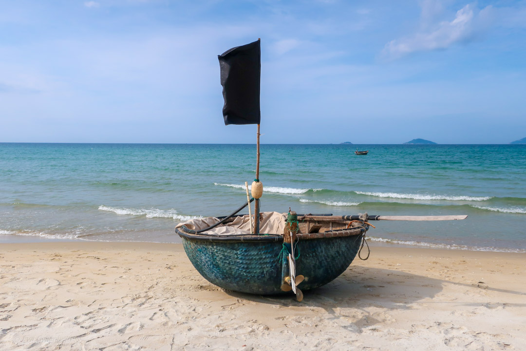 Stranden i Hoi An, Vietnam