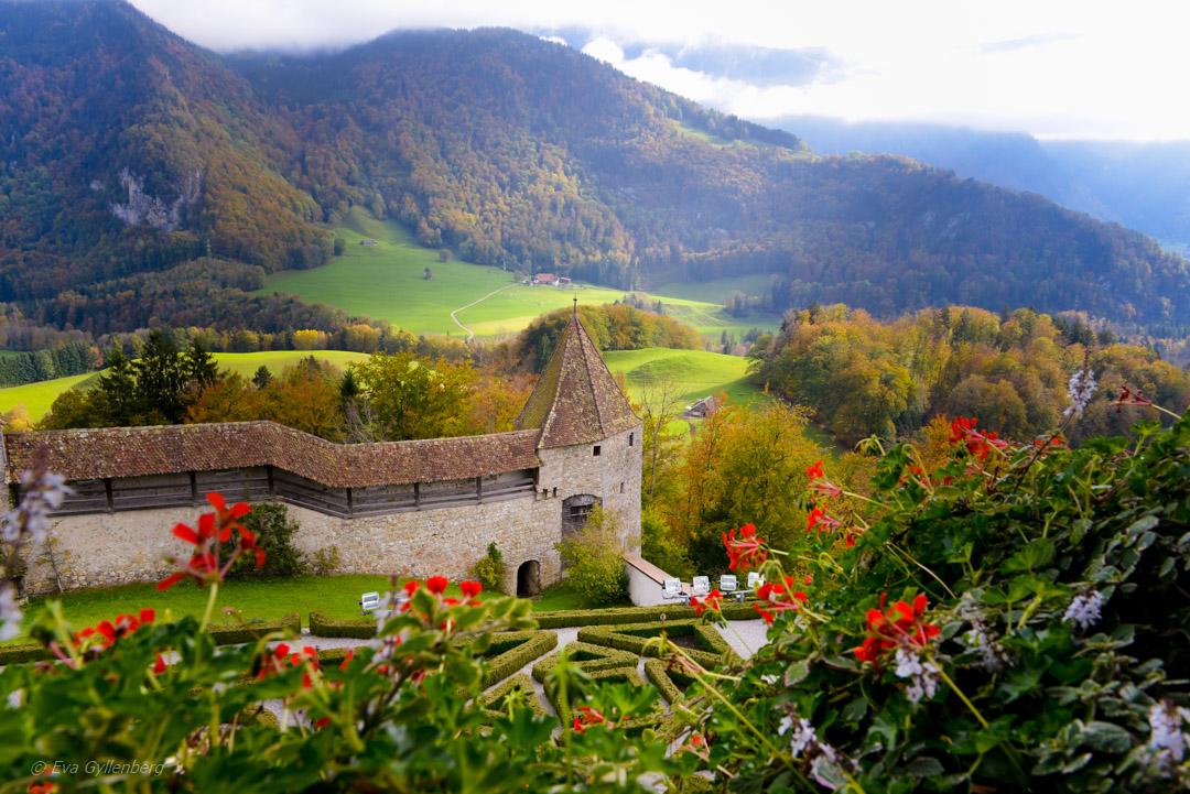 Schweiz - Gruyere slott