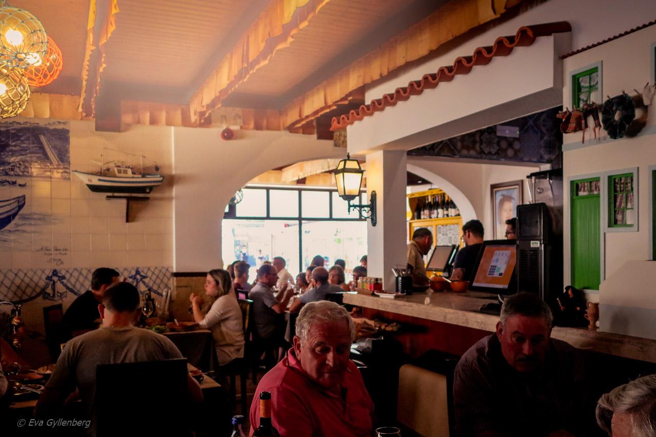 En lunch i Nazare - Portugal