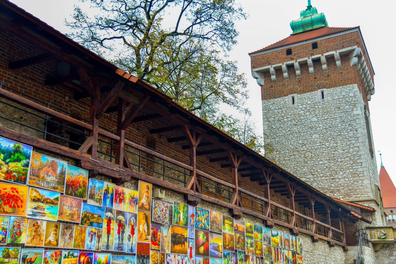 Krakow - Stadsmuren