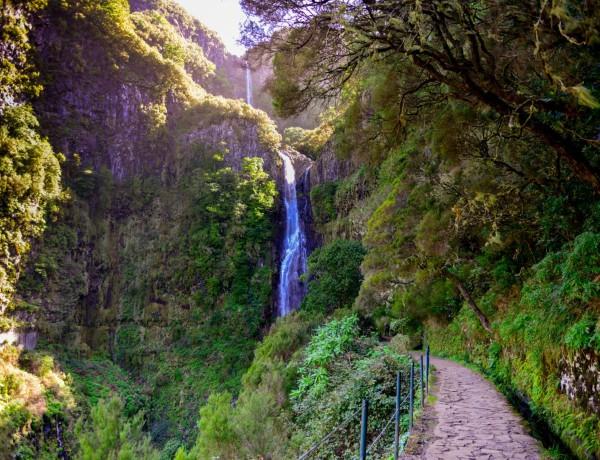 Levadavandring på Madeira - Vattenfallen vid Rabaçal 2