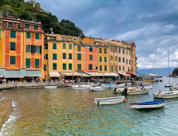 Portofino hamn - Italien