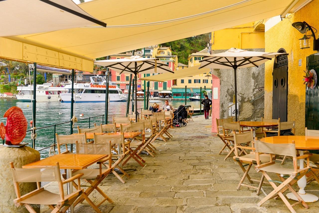 Portofino restauranger -Italien