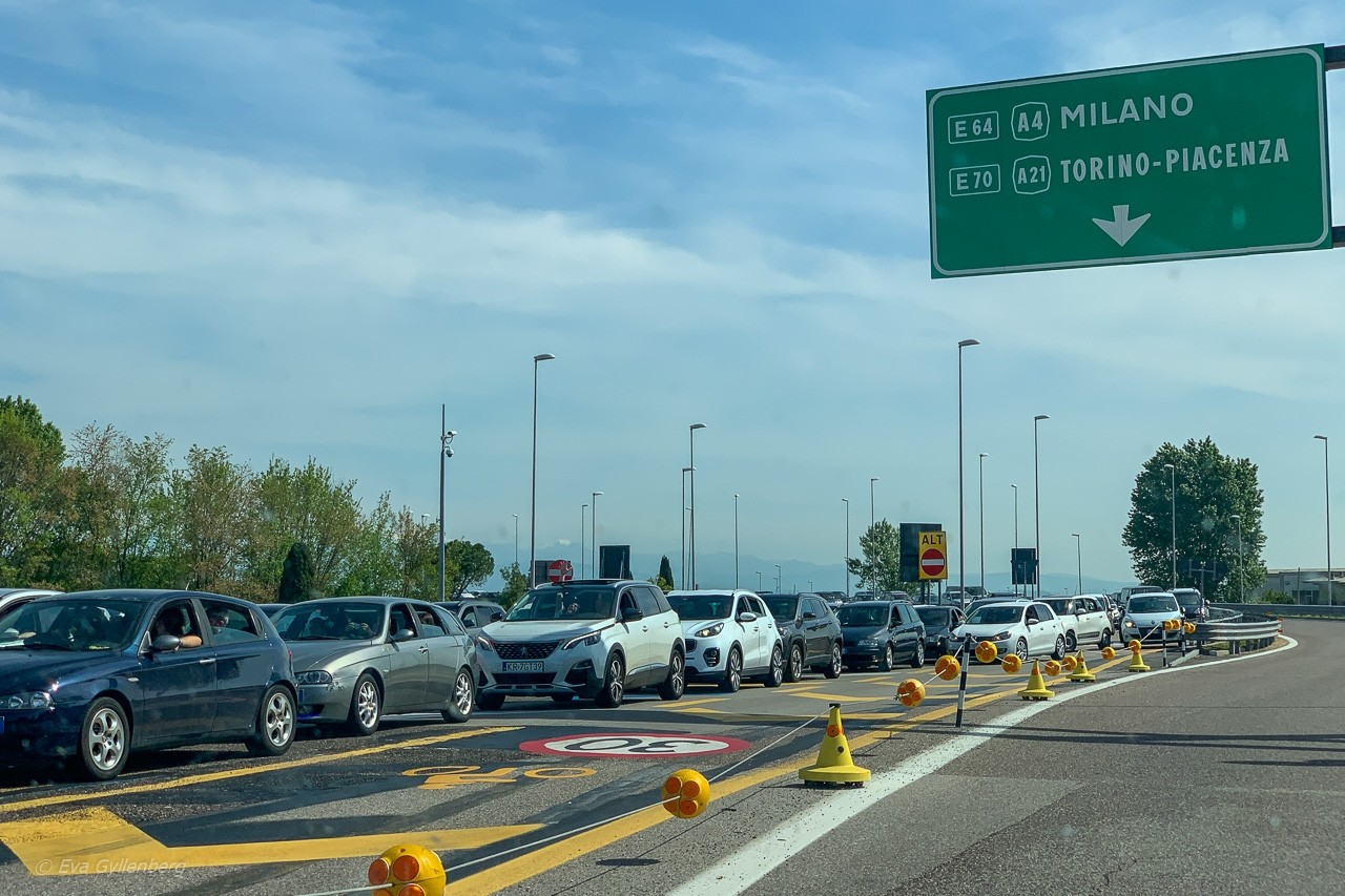 Bila i Italien - Påsktrafik