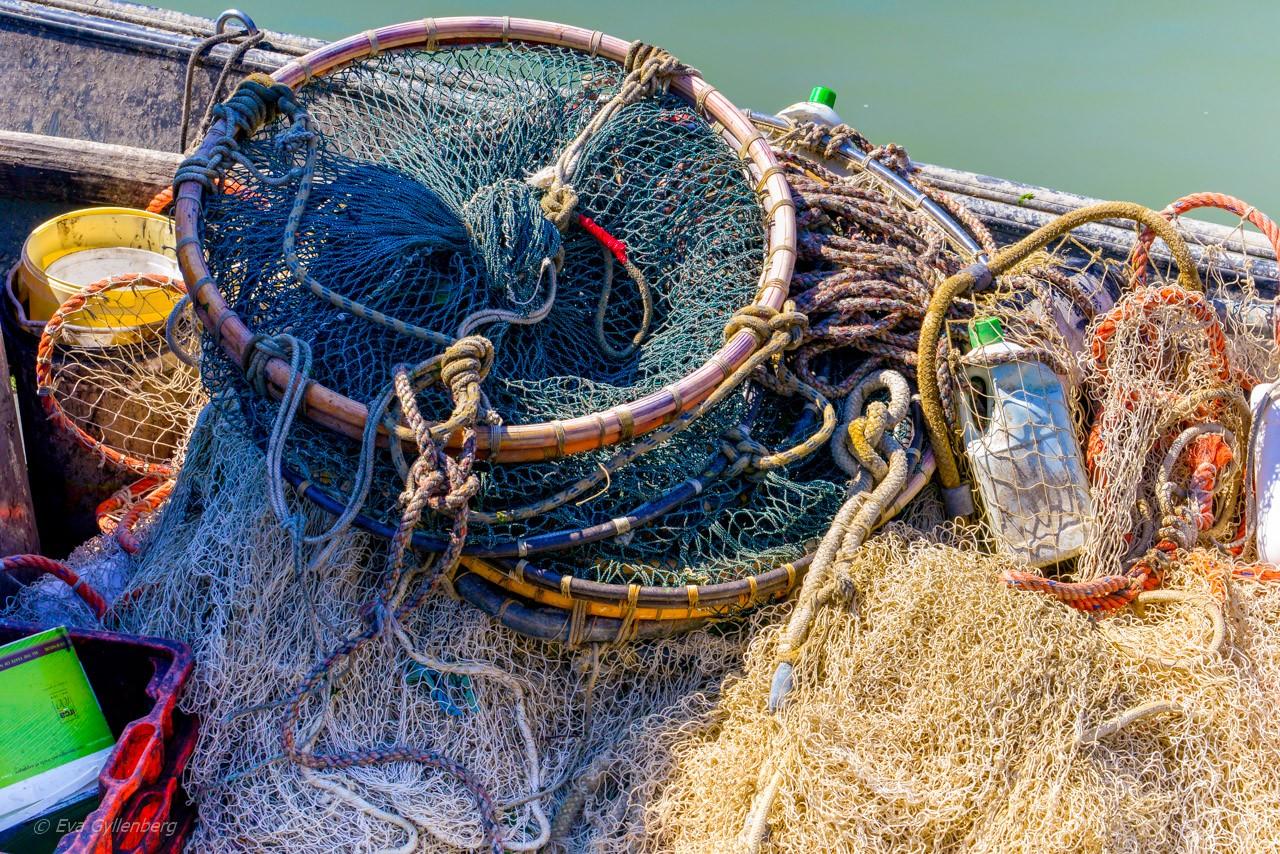 Fiskenät på Burano - Venedig - Italien
