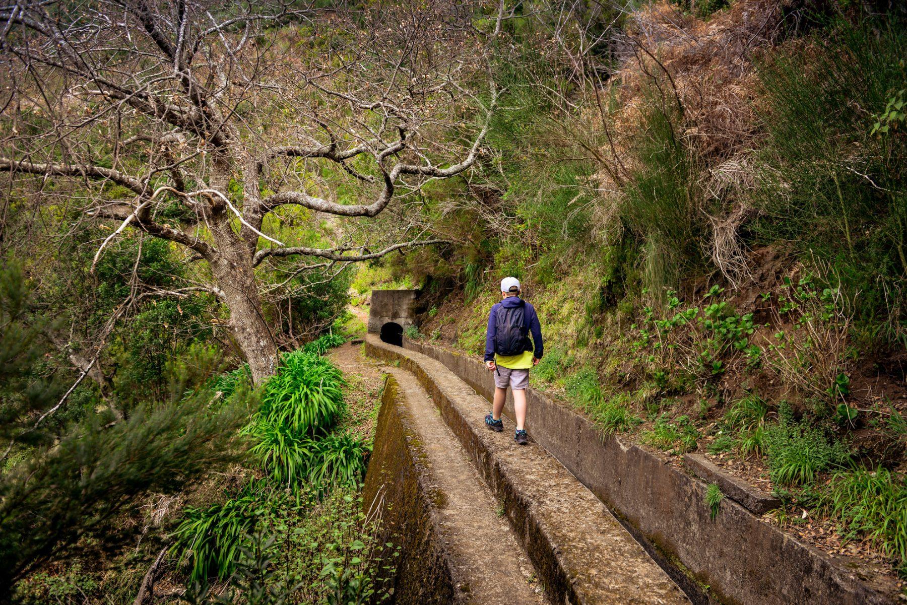 Balansgång utefter levadan - Madeira