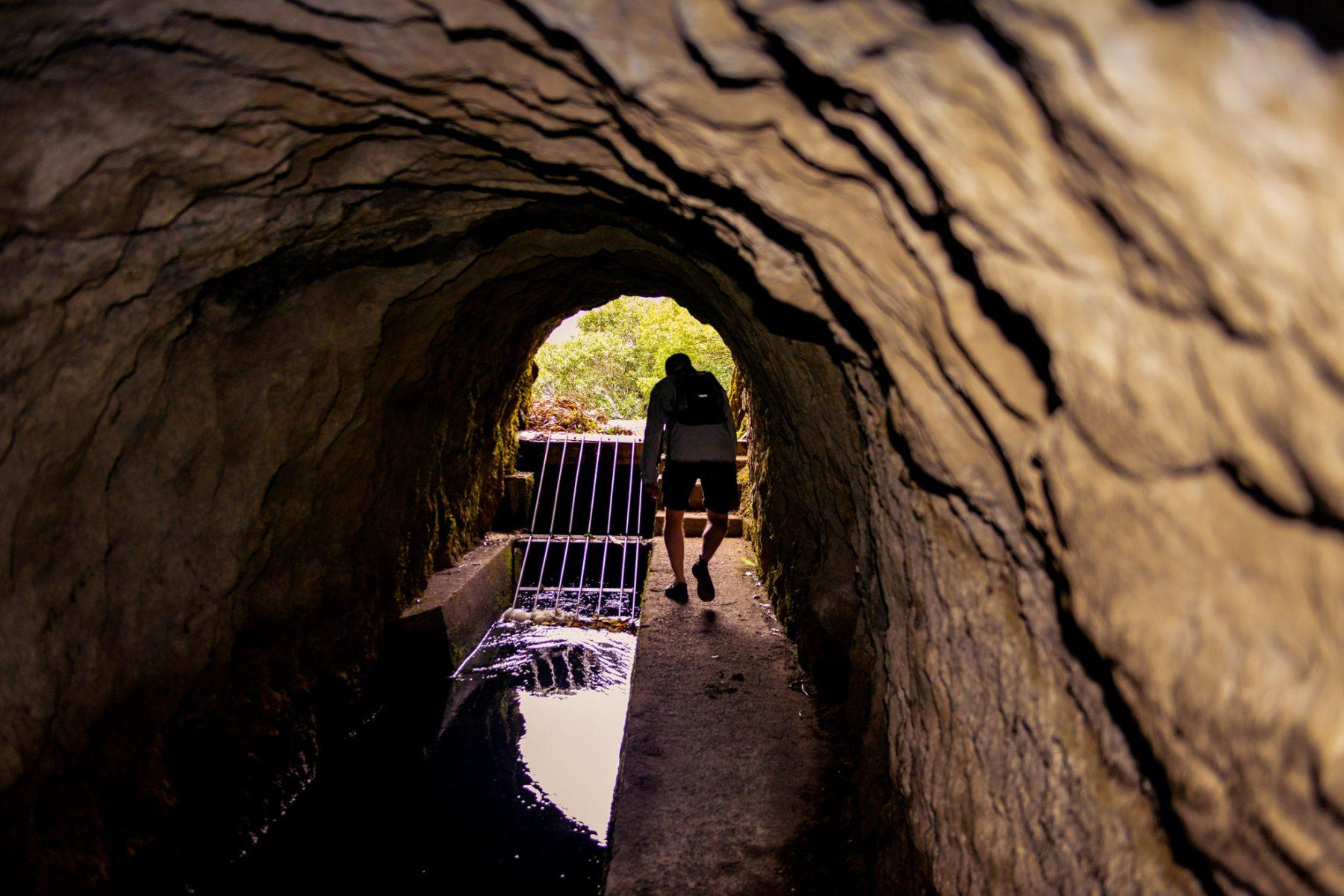Tunnel utefter Levada de Rabacas