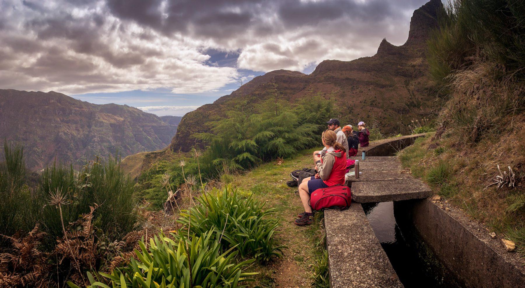 Lunchpaus på levadan - Madeira