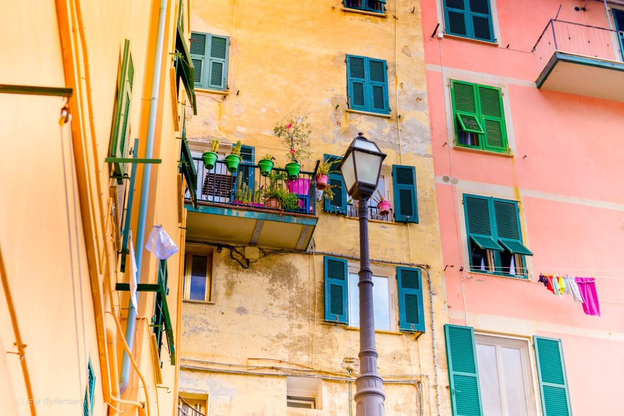 Riomaggiore balkonger