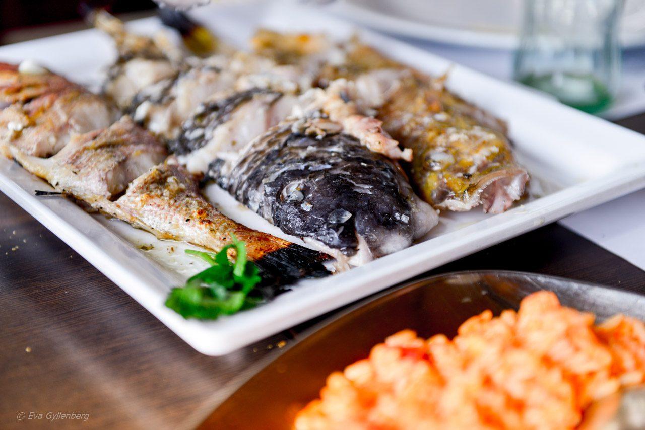 Grillad fisk i Camara de Lobos