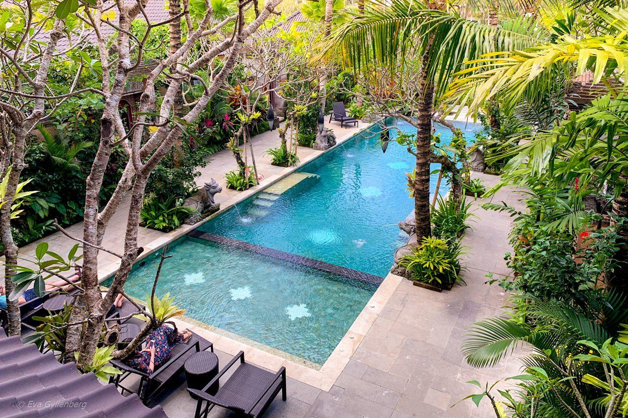 Pool på Dwaraka Royal Villas, Ubud