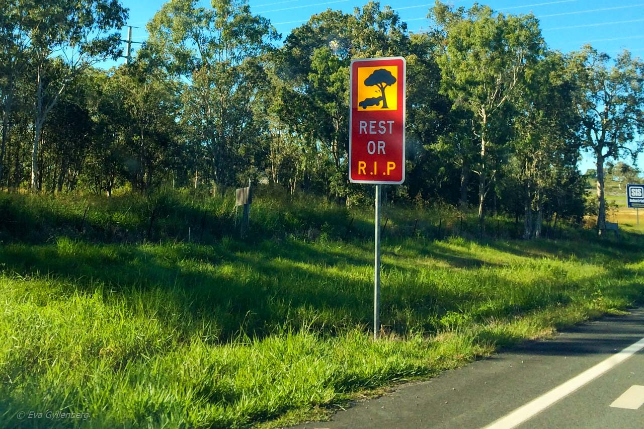 Australien - Varningskylt