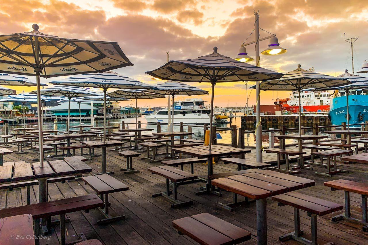 Fremantle hamn - Australien