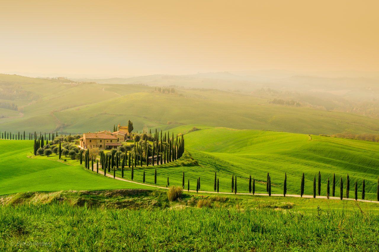 Val d'Orcia - Vackra vyer i Italien