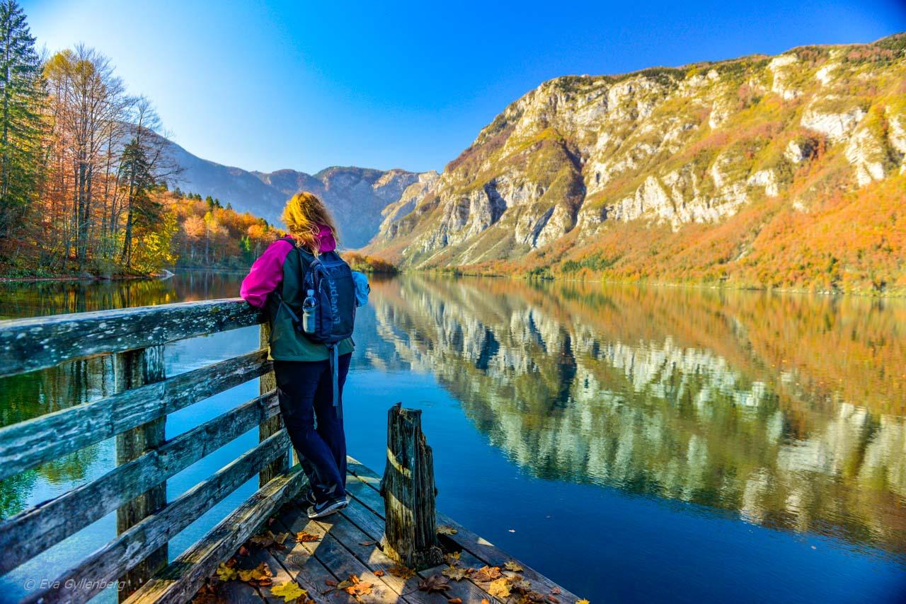 Eva vid Lake Bohinj - Slovenien