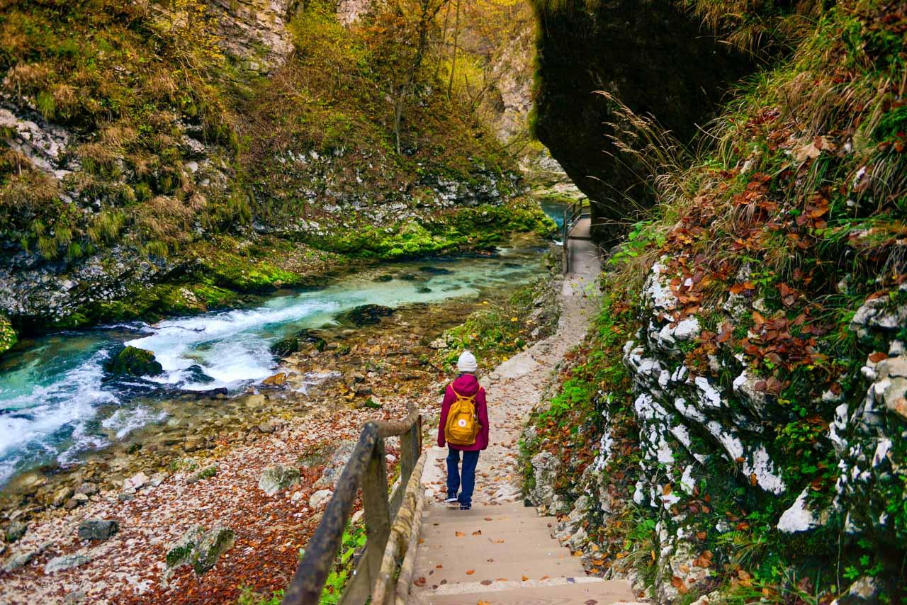 Hiking Vintgar Gorge