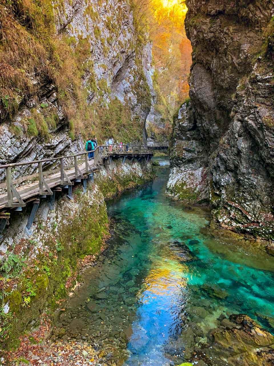 Vintgar Gorge - Vandra i ravinen med de stora vyerna 15