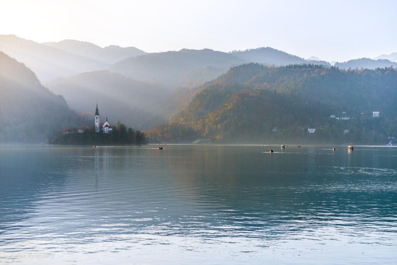 Solnedgång vid Bledsjön