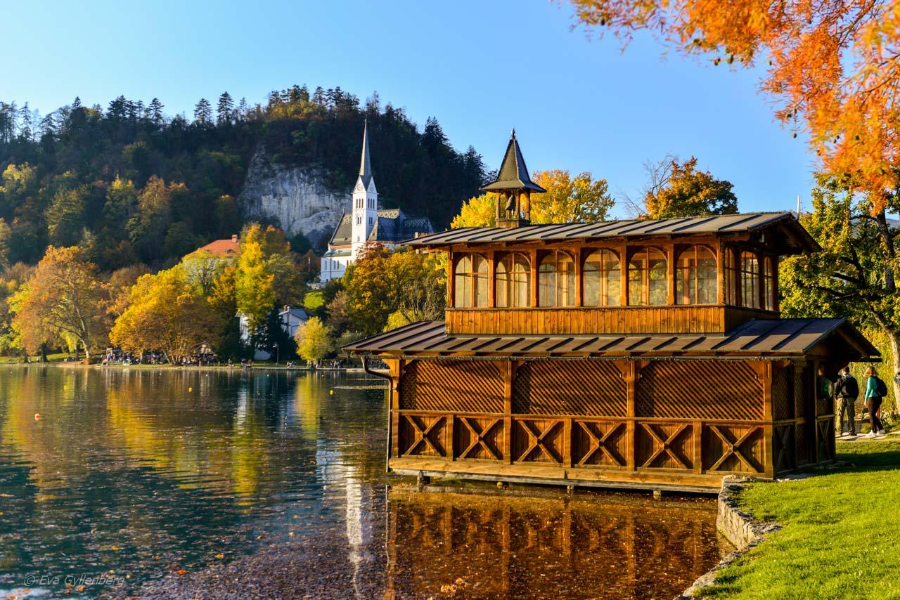 Lake Blad i Slovenien