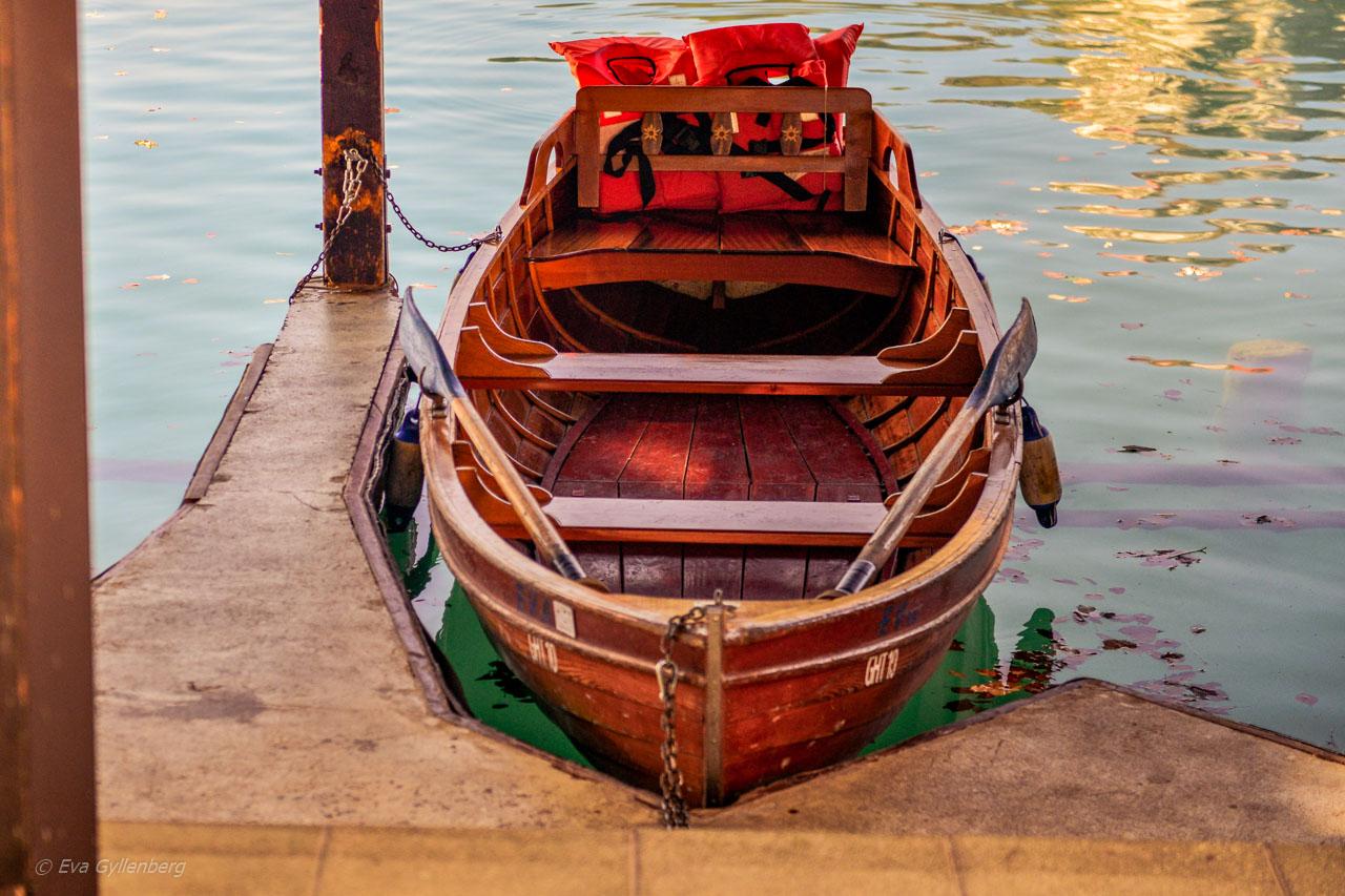 Båt vid Bled
