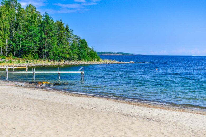 Vita sandstränder i Norrland