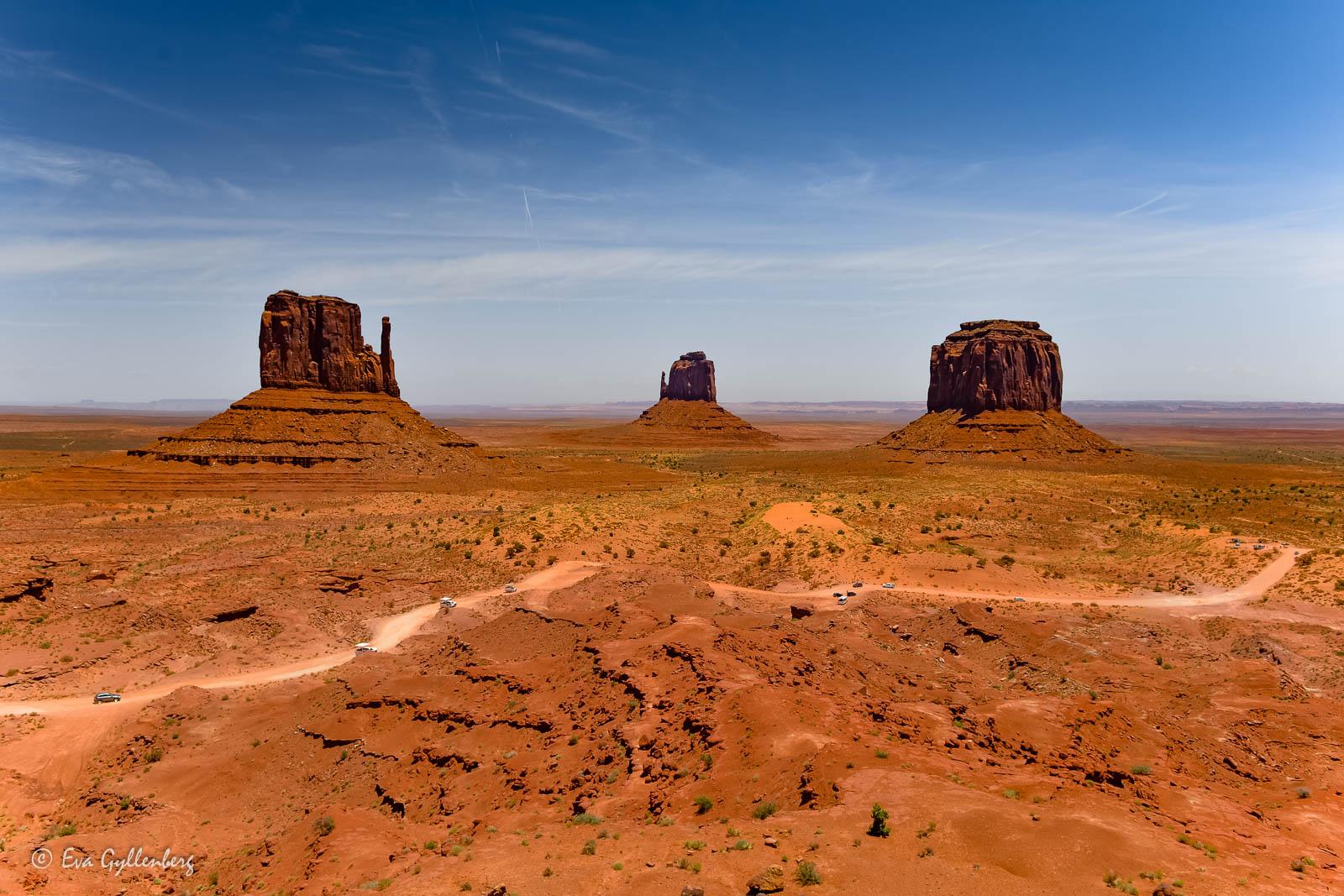 Monument Valleys ikoniska landskap