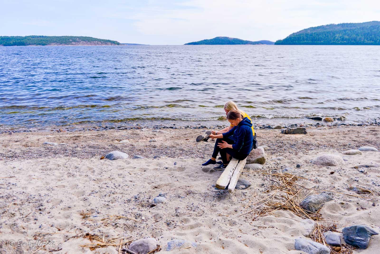 Fin strand i Bäckfjärden