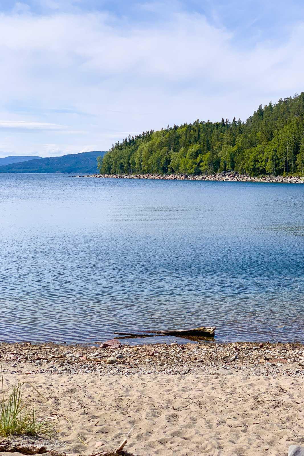 Strand utefter Höga Kusten-leden