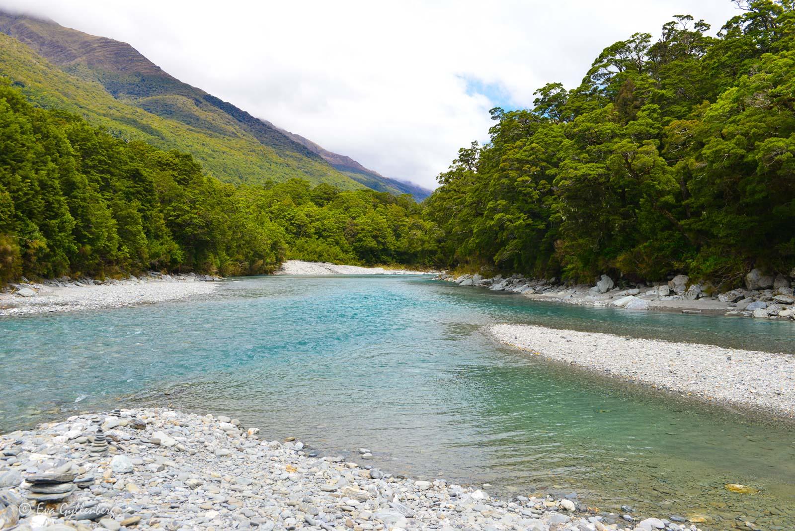 Blå flod i Mount Aspiring