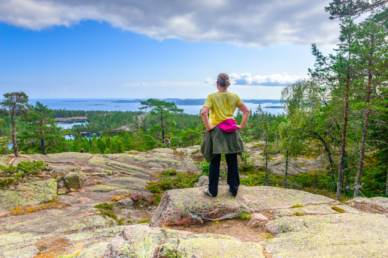 Utsikt från Skuleskogen