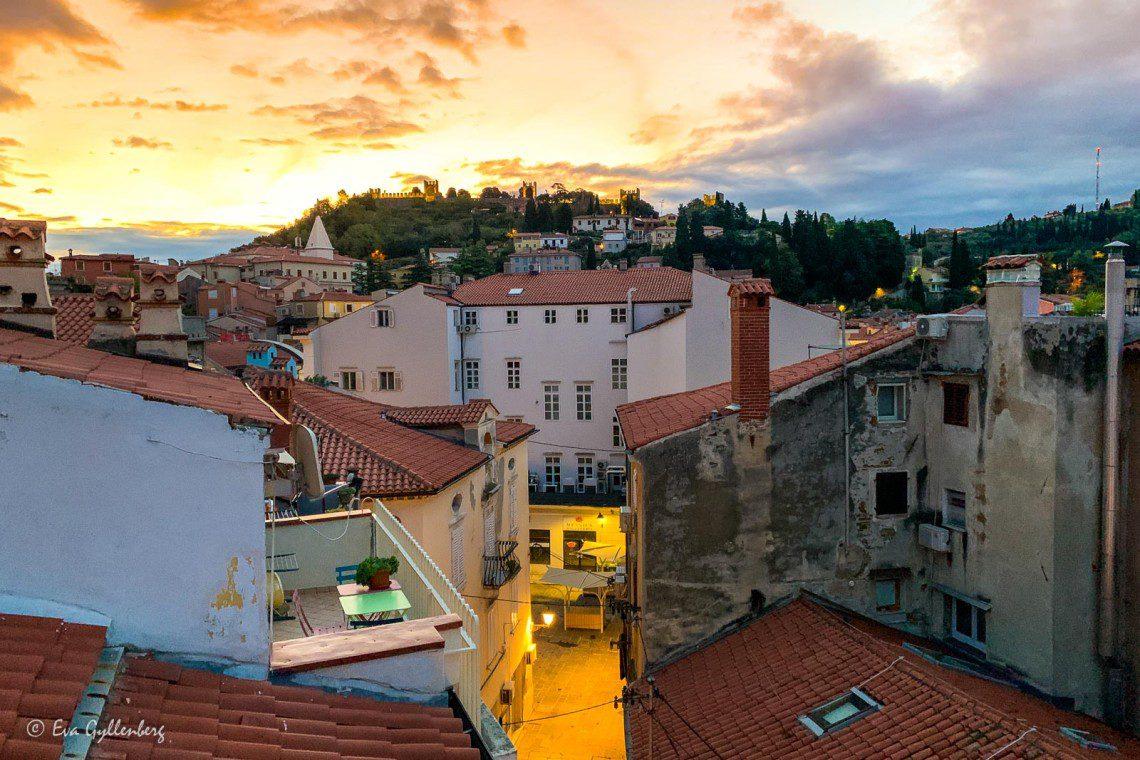 Utsikt från vår lägenhet i Piran