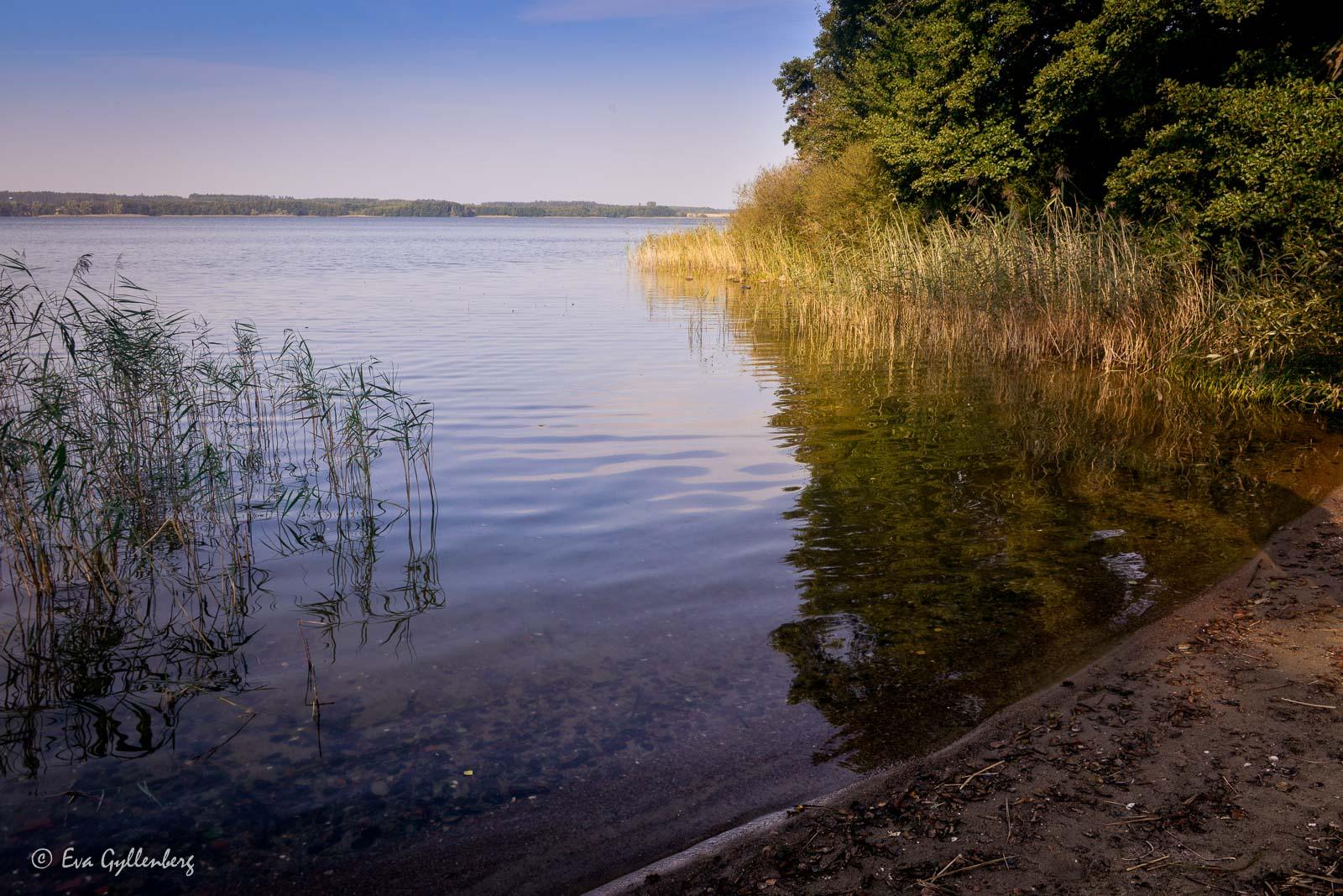 Strand vid Oppmannasjön vid Bäckaskog slott