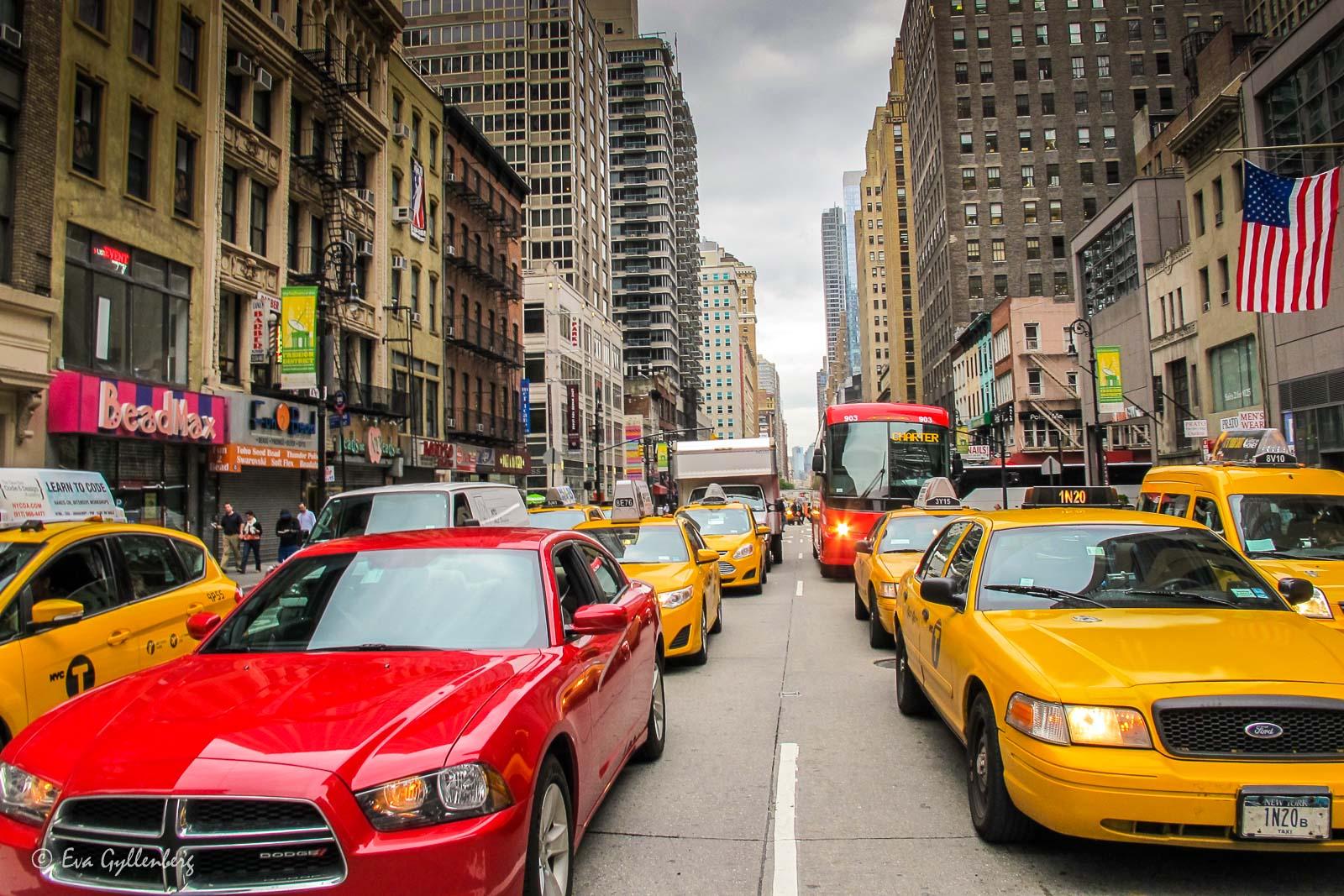 Taxibilar i NY