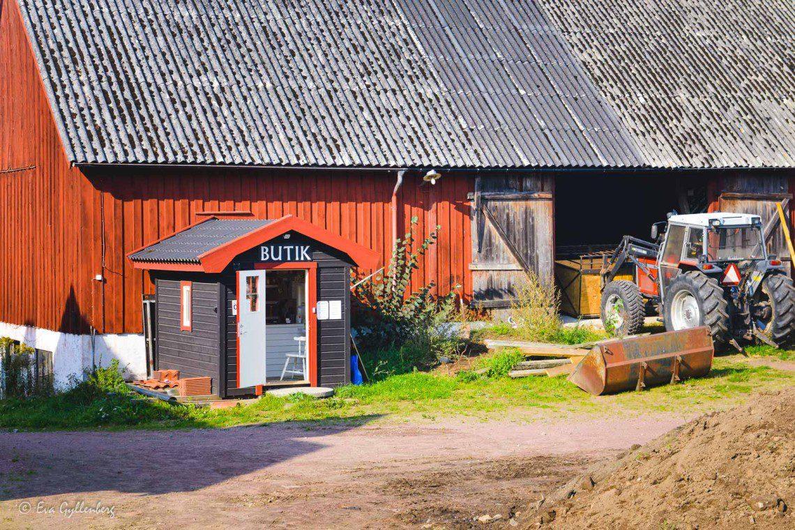 Liten gårdsbutik vid Ivösjön