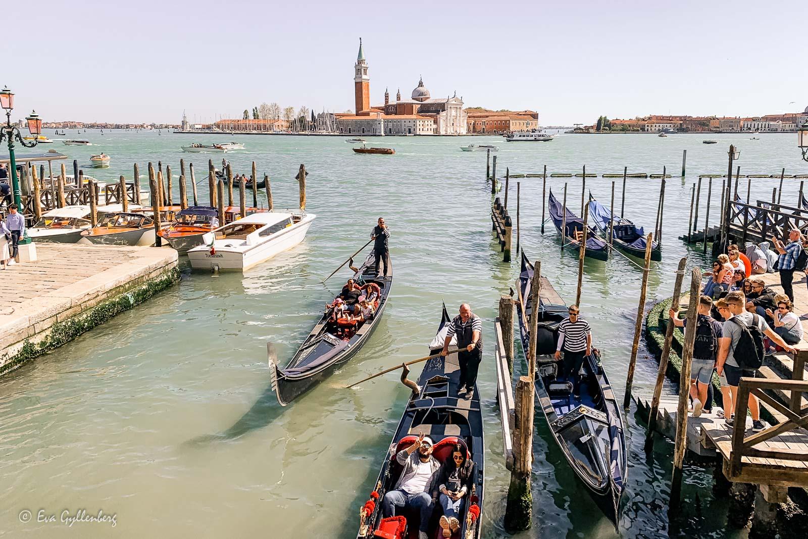 Gondoler i Venedig