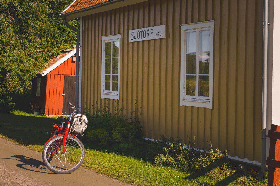 Cykelpaus utefter Göta Kanal