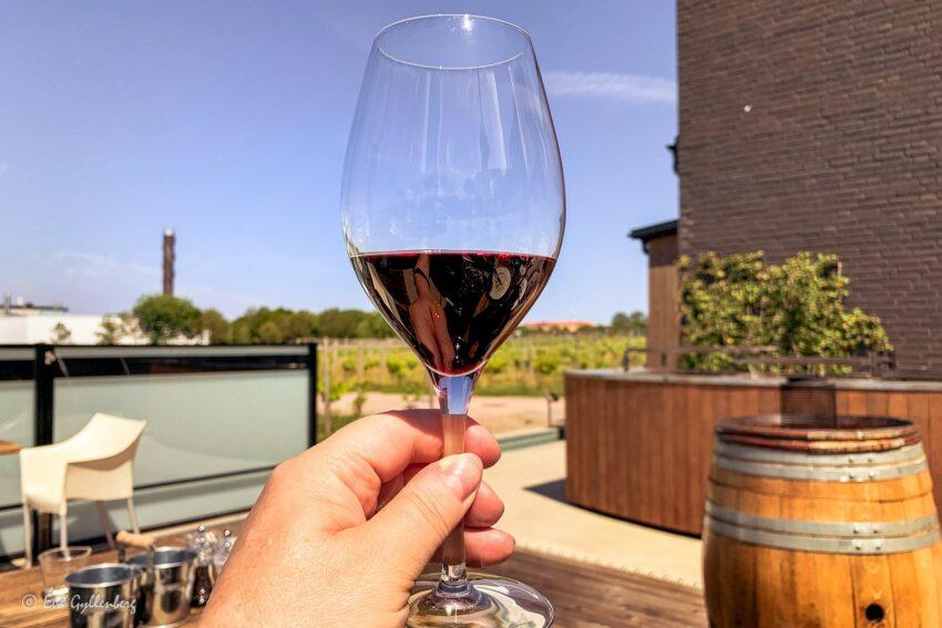 Rött vin på Nordic Sea Winery
