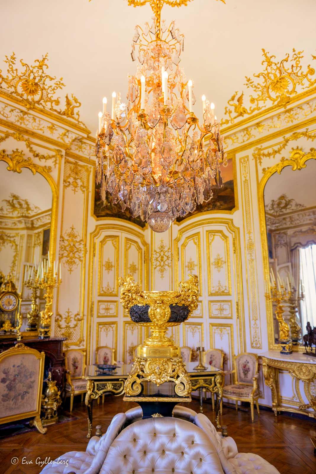 Inredning på slottet i Chantilly