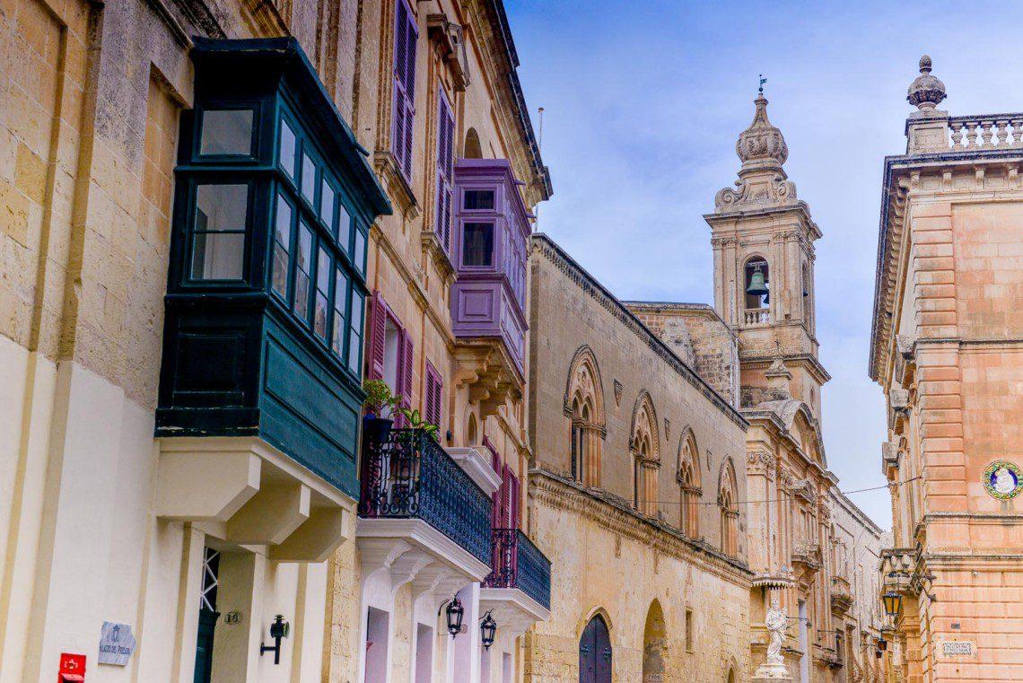 Gata i den gamla huvudstaden i Mdina