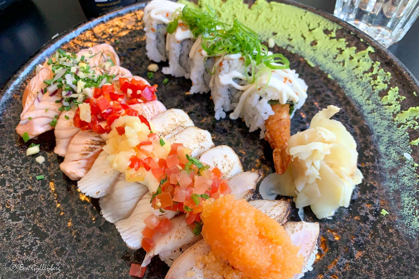 Konstig sushi i Lund