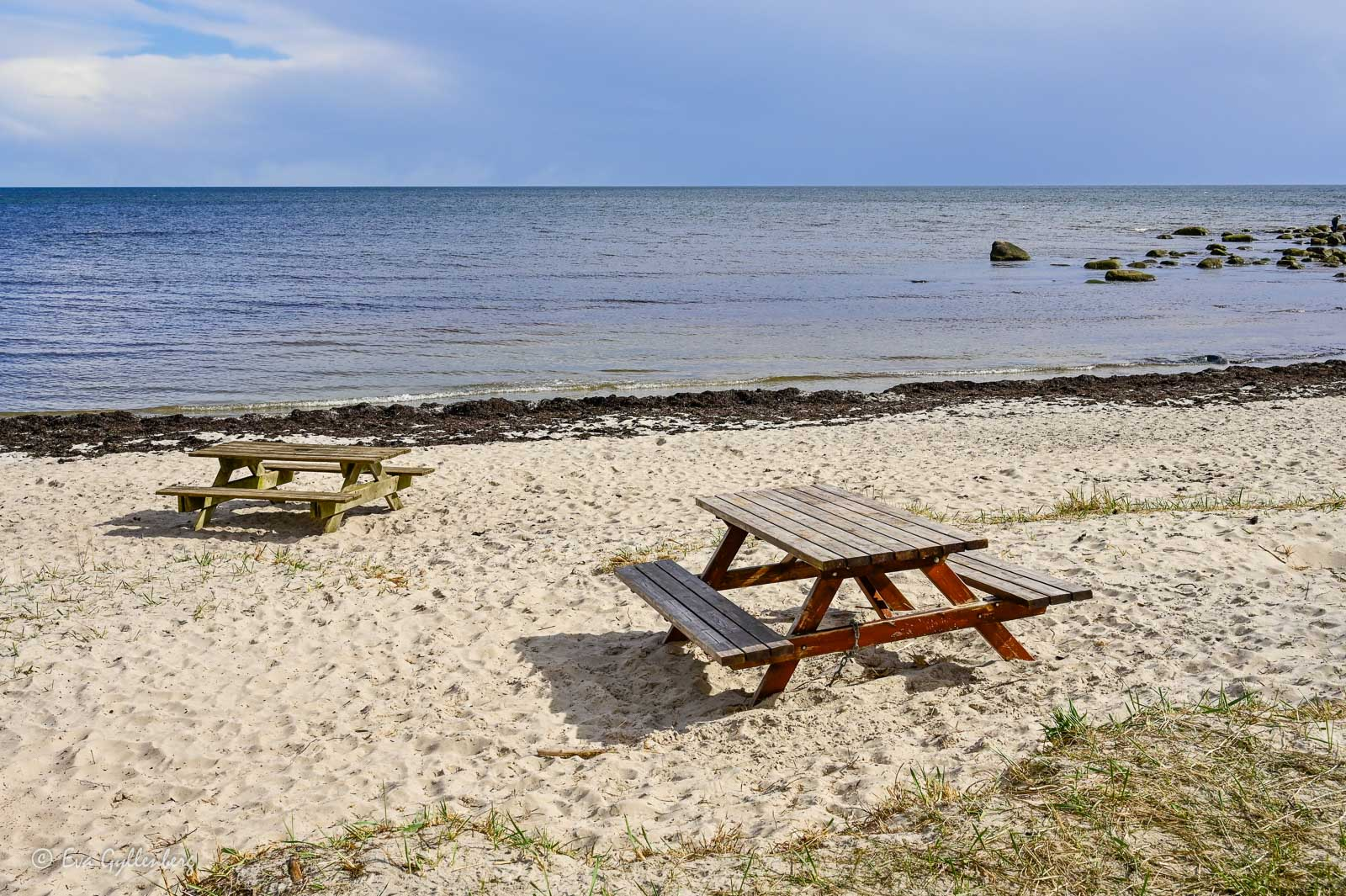 Picknickbord vid Äspet