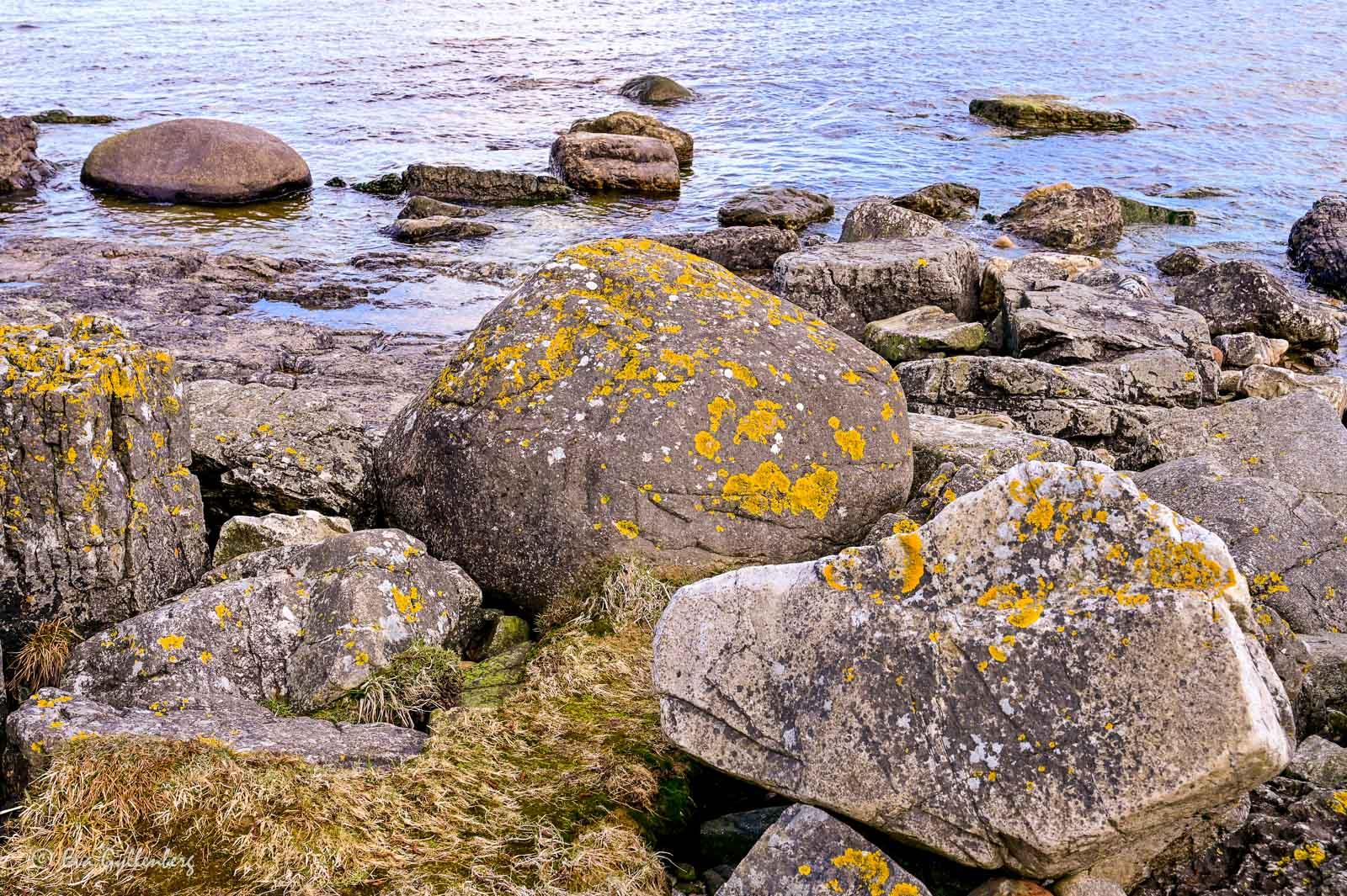 Klippor vid havet på Österlen